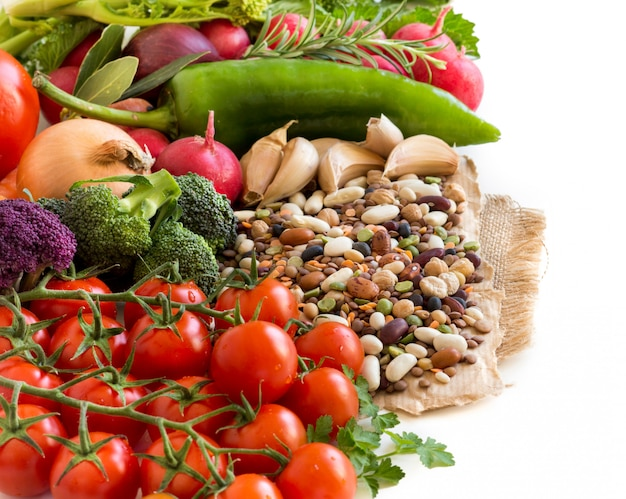 Mixed legumes and vegetables