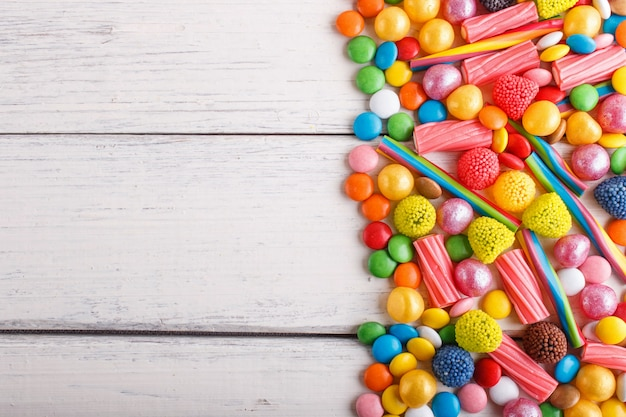 Mixed multicolored candies