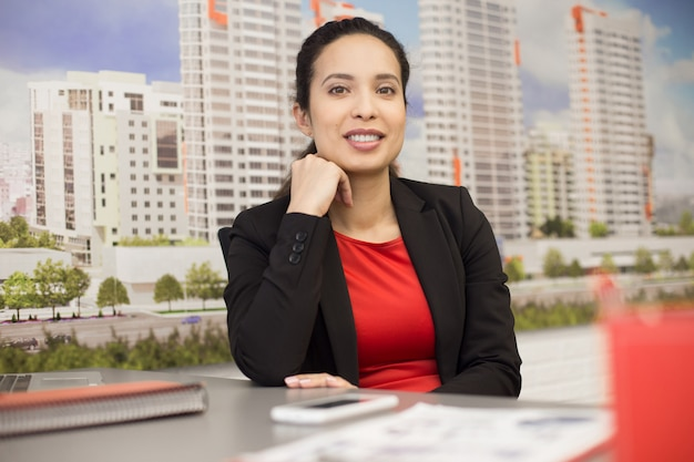 Mixed race consultant in agency