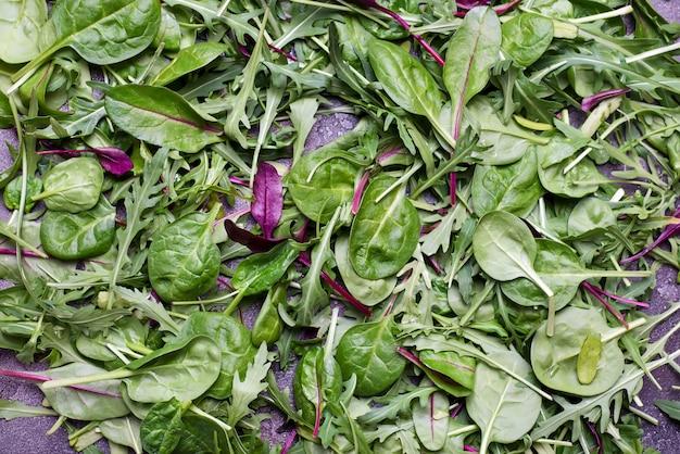 Mixed salad leaves