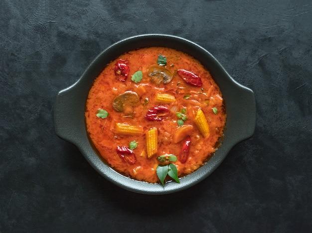 혼합 야채 고안 카레, 인도 음식