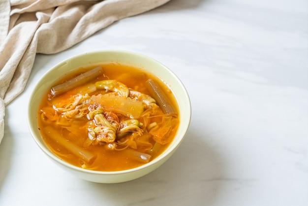 ミックスベジタブルサワースープ-タイ料理スタイル