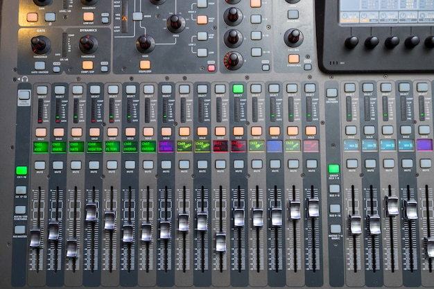 Mixing console for sound