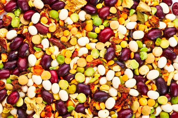 Mixture of beans for vegetarian soup