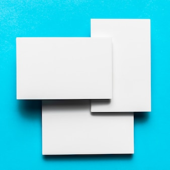 Mixture of white envelopes with flat lay