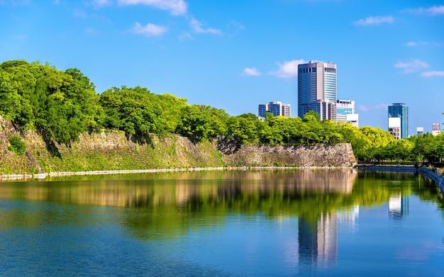 일본 오사카의 오사카 성 해자