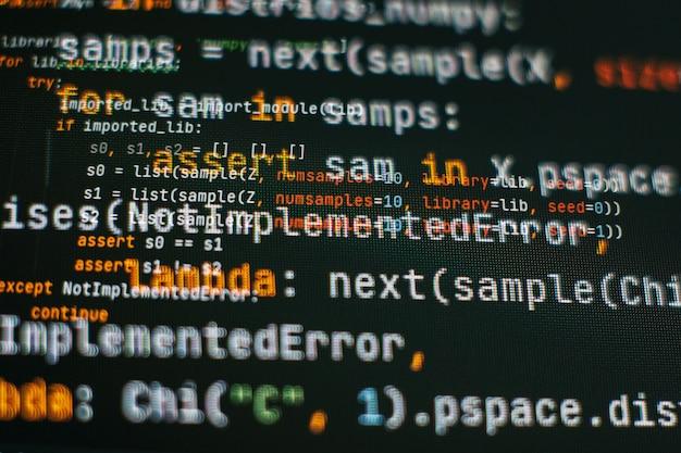 Mobile app developer. innovative startup project. website programming code. it business.