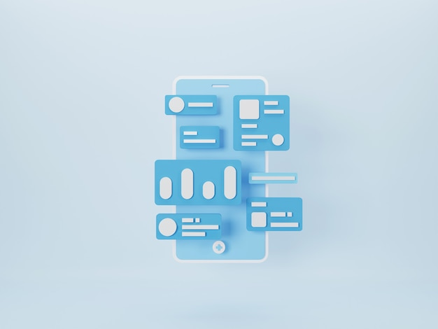 Mobile app development and mobile web design concept