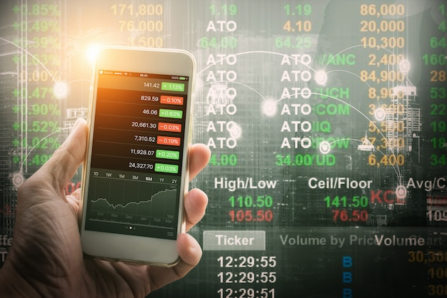Mobile forex trader concept