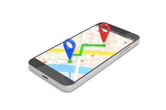 Mobile GPS navigation concept