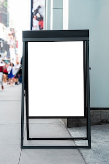 Mobile mock-up billboard on sidewalk