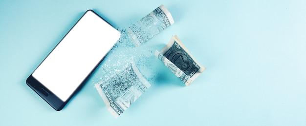 휴대폰과 달러 지폐가 사라진다