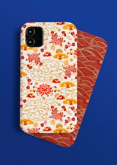 Mobile phone case chinese pattern back view product showcase