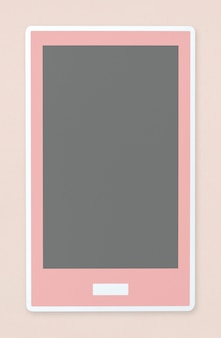 Mobile phone icon isolated