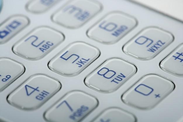 Mobile phone macro keyboard detail