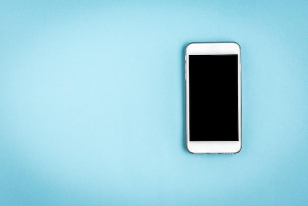 파란색에 휴대 전화