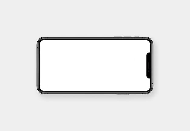 Экран мобильного телефона горизонтальный пустой пустой