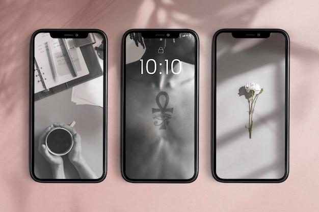 Mobile phone screen product showcase