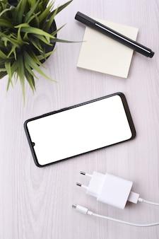 흰색 화면 휴대 전화 스마트 폰
