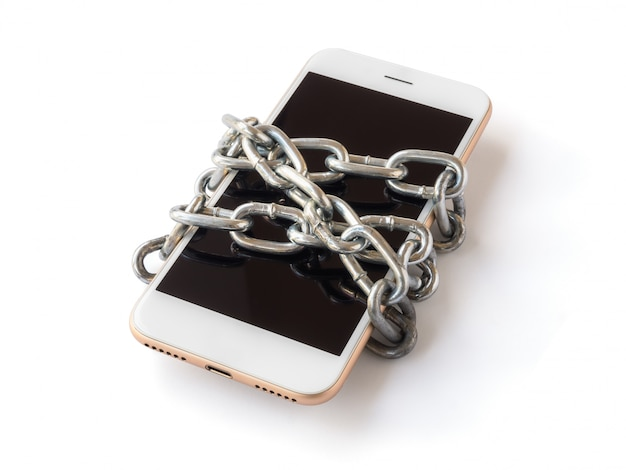 Mobile phone with chain locked isolate
