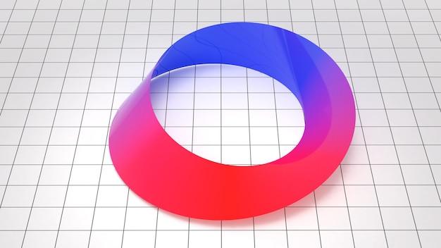 뫼비우스 스트라이프 패턴, 뫼비우스 스트립 모양의 개념, 과학 연구를 위한 뫼비우스 스트립, 3d 렌더링