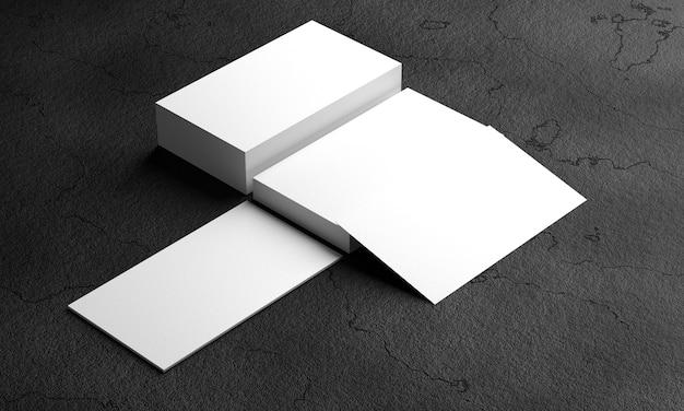 Mocap business cards. business card on black background. 3d rendering