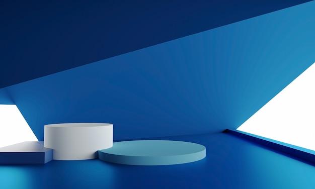 製品のプレゼンテーションのための抽象的な表彰台の最小限の背景のモダンな空のショーケースのモックアップ