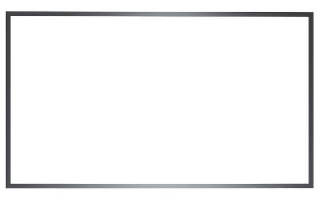 Mock up banner media light box isolate on white background