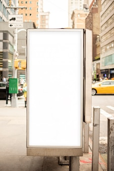 Mock-up billboard on sidewalk post
