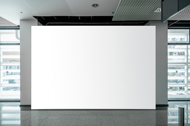 Mock up blank billboard white led screen vertical for advertising