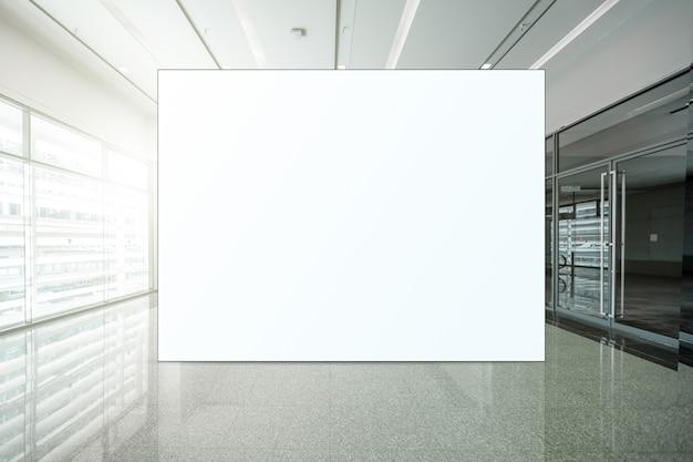 광고를위한 빈 게시판 백색 led 스크린 수직을 모의하십시오