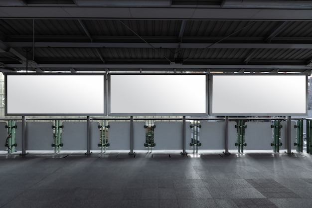 Макет пустой рекламный щит белый светодиодный экран вертикальный для рекламы