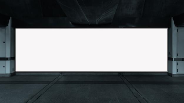 광고를 위해 수직 빈 게시판 백색 led 스크린을 모의하십시오