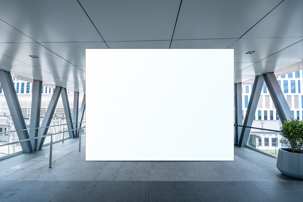 Макет пустой рекламный щит