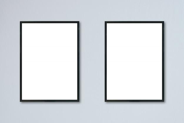 部屋の壁に掛かっている空白のフレームをモックアップします。