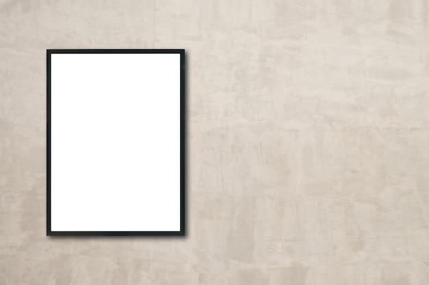 방에 벽에 걸려 빈 포스터 액자를 모의