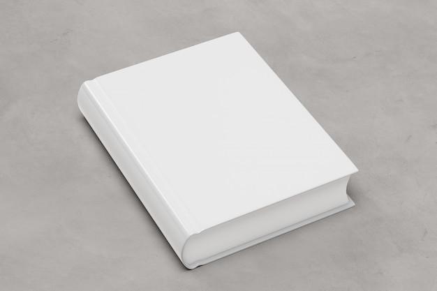 Mock up of a book on a concrete background - 3d rendering