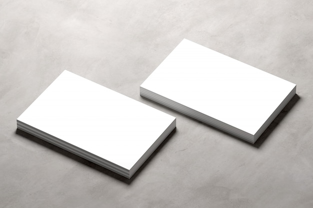 Mock up of businesscard on a concrete background - 3d rendering