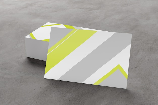 Mock up of businesscard on a concrete background ing