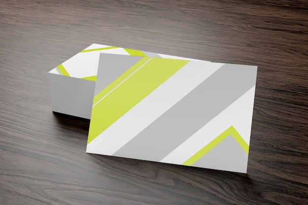 Mock up of businesscard on a wood background ing