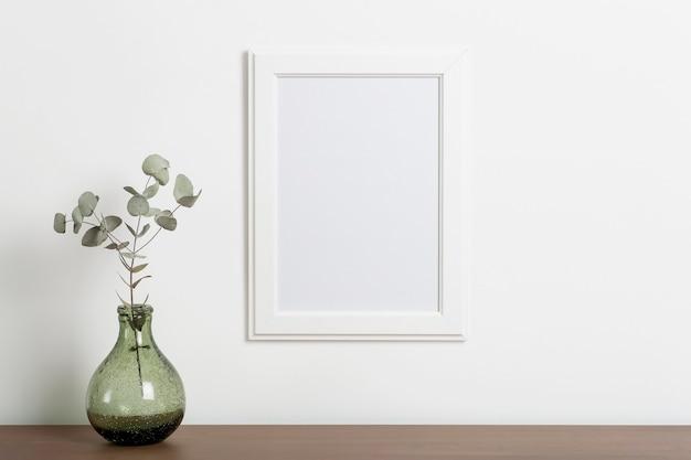 Макет пустой белой рамки фона пустая рамка для фотографии или картины