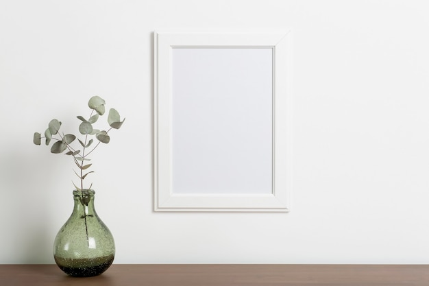 Mock up empty white frame background empty frame for a photo or painting