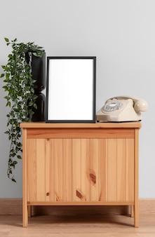 Mock up frame on cabinet