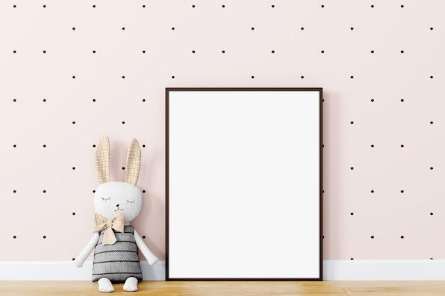 Mock up frame in children room