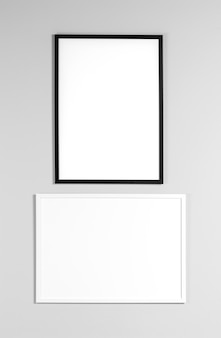 Mock up frames on wall