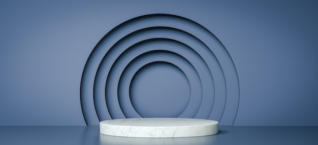 제품 디자인, 3d 렌더링을위한 기하학적 모양 연단 모의