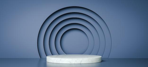 Mock up geometric shape podium for product design, 3d rendering