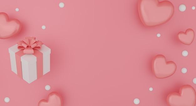 Макет подарочной коробки, воздушный шар сердце