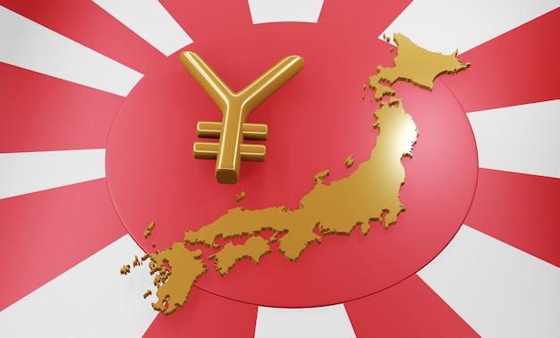 Mock up map japan 3d map realistic.