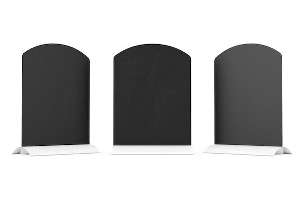 Макет панели меню, ресторана или кафе для мелования стола с пустым пространством для вашего дизайна на белом фоне. 3d рендеринг